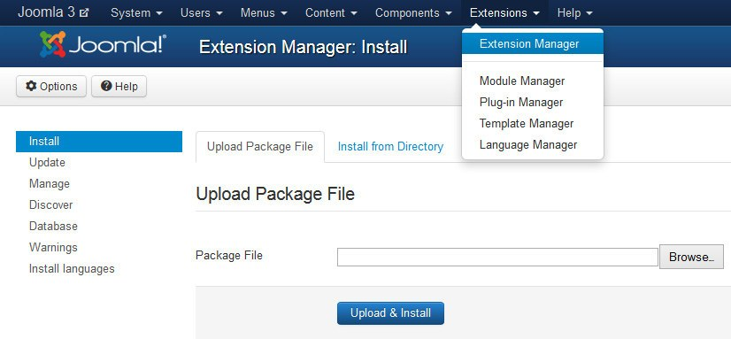 joomla administrator templates - how to install a joomla template